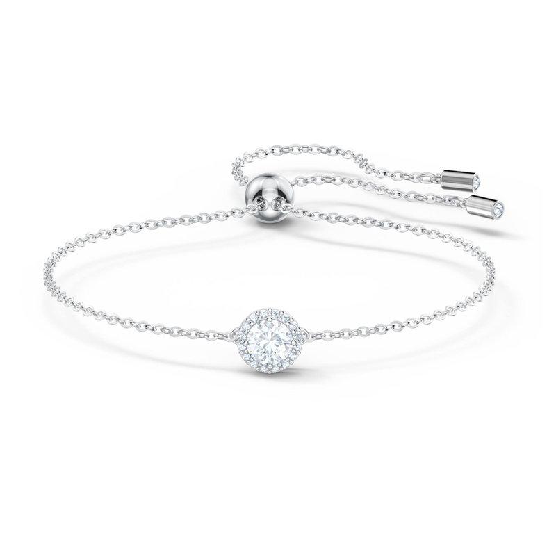 Swarovski Angelic bracelet Round, White, Rhodium plated