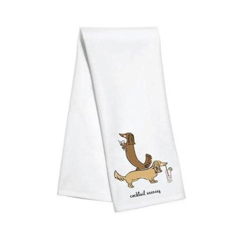 Toss Designs Cocktail Weenies Art Kitchen Towel