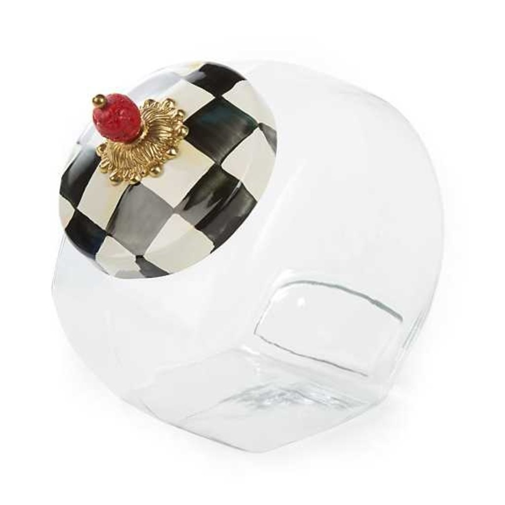 Mackenzie-Childs Cookie Jar With Courtly Check Enamel Lid