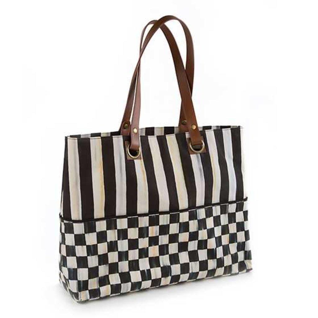 Mackenzie-Childs COURTLY CHECK BISTRO TOTE