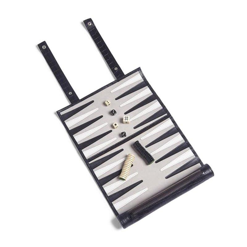 Tizo Design Rolled Backgammon Set, Black