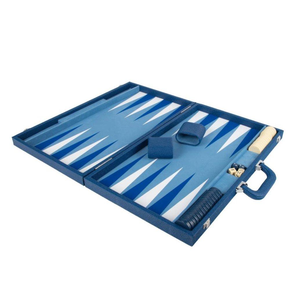 Brouk Onyx Backgammon Set (Blue)