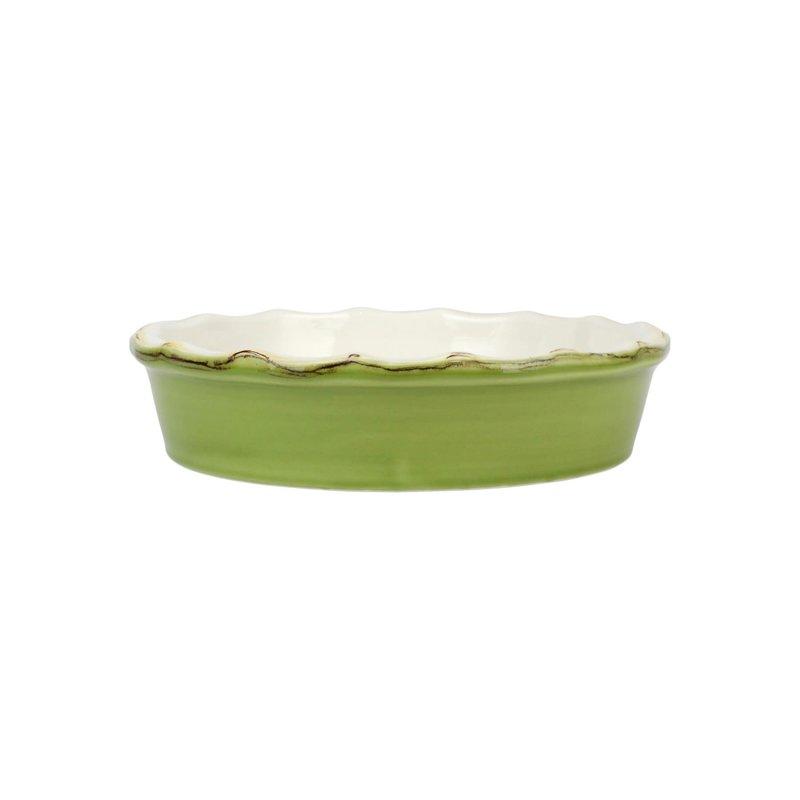 Vietri Italian Bakers Green Pie Dish