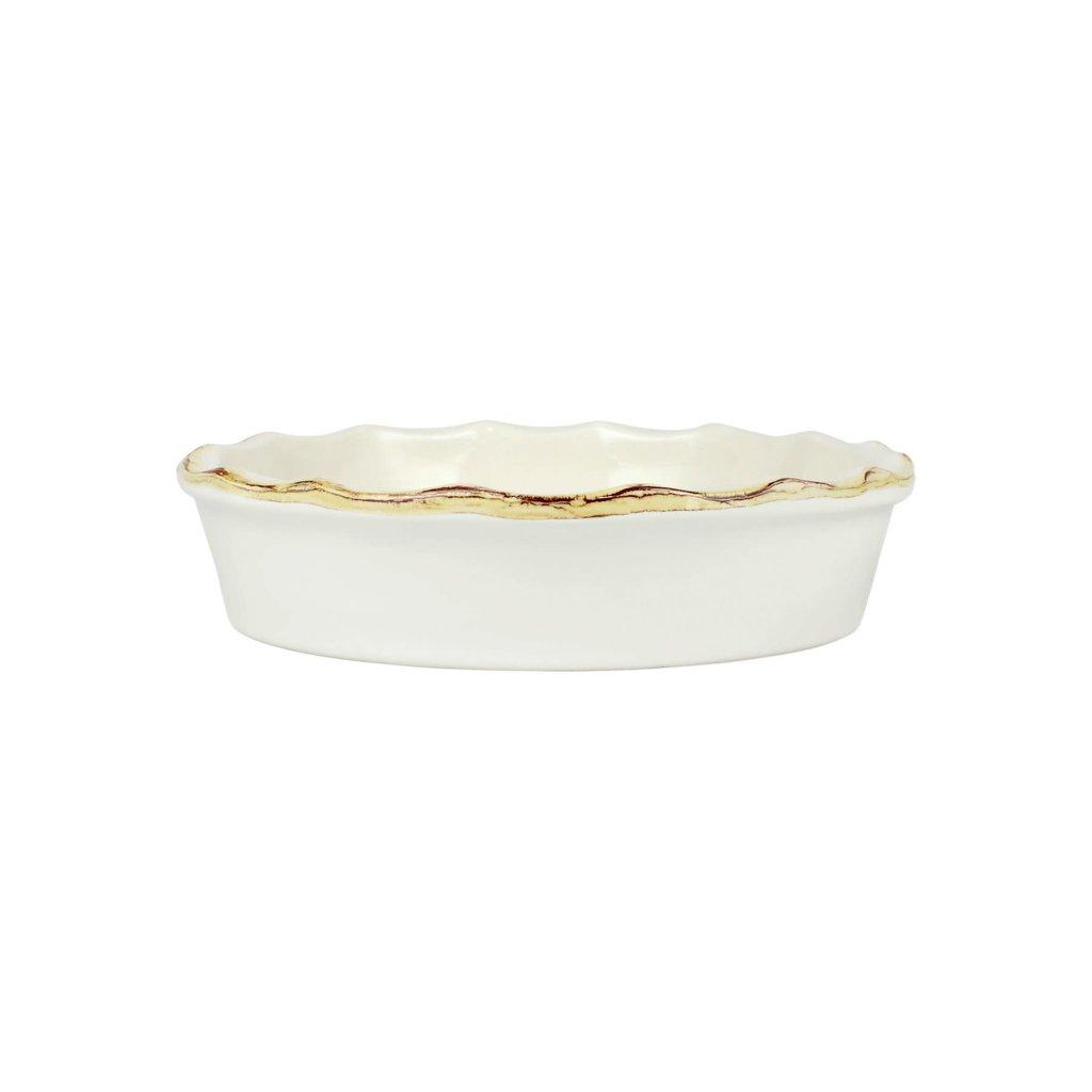 Vietri Italian Bakers White Pie Dish