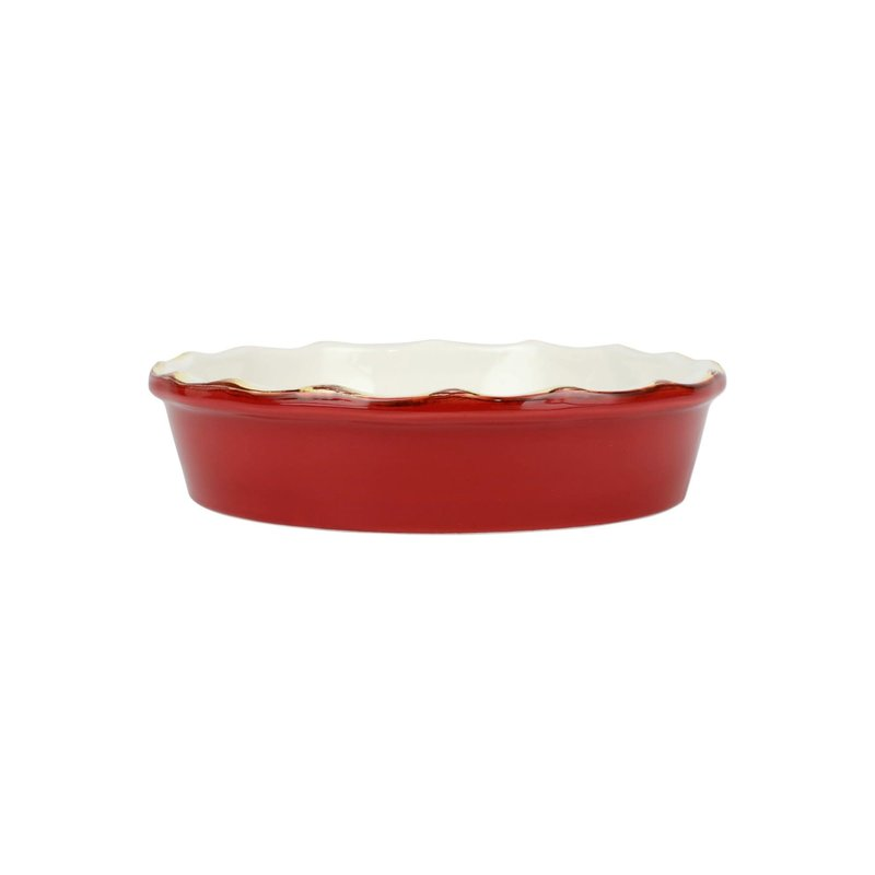 Vietri Italian Bakers Red Pie Dish