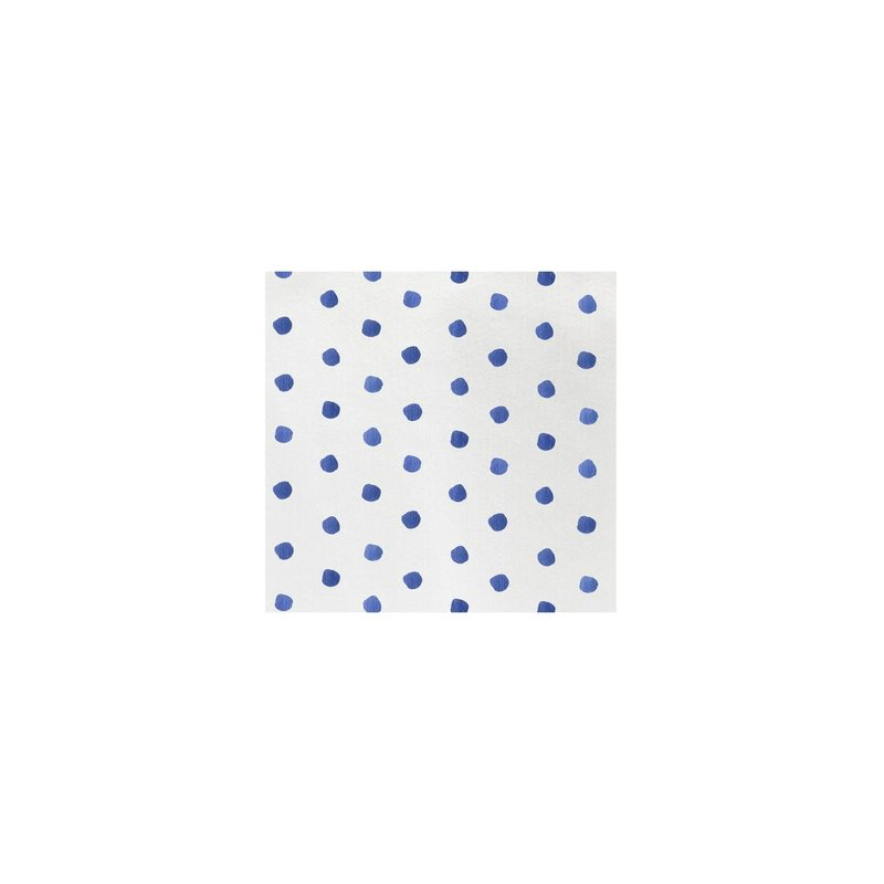 Vietri Papersoft Napkins Dot Blue Cocktail Napkins, pack of 20