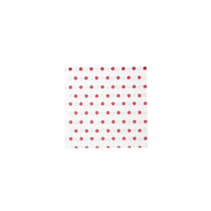 Vietri Papersoft Napkins Dot Red Cocktail Napkins, pack of 20