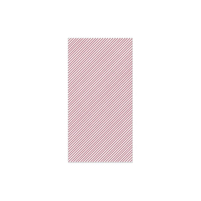 Papersoft Napkins Seersucker Stripe Red Guest Towels, pack of 20
