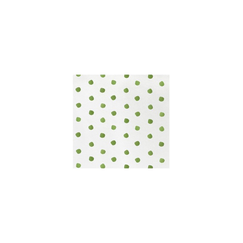 Vietri Papersoft Napkins Dot Green Cocktail Napkins, pack fo 20