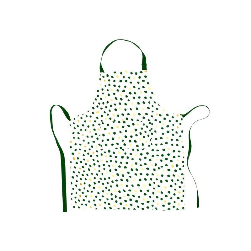 Vietri Bohemian Linens Dot Green/Gold  Apron