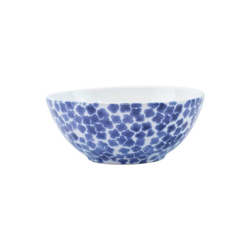 Vietri Santorini Small Serving Bowl - Flower Pattern