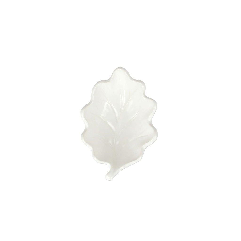 Vietri Foliage White Oak Leaf Small Bowl