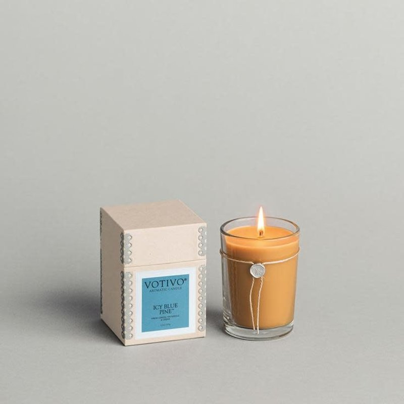 VOTIVO Icy Blue Pine Aromatic Candle