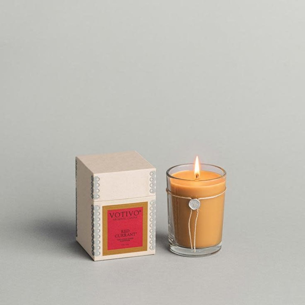 VOTIVO Red Currant  Aromatic Candle 6.8 oz.