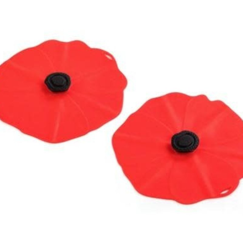 Charles Viancin Poppy Drink Covers, set of 2