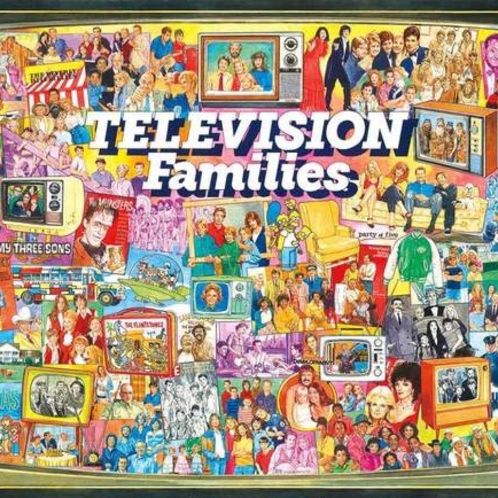White Mountain Puzzles TV Families 1000 pc Puzzle