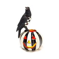 Mackenzie-Childs Crow on Illuminated Pumpkin