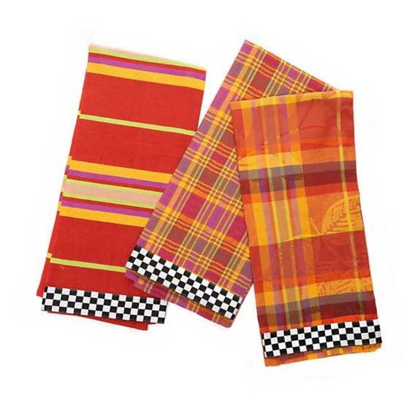 Mackenzie-Childs Falling Leaves Dish Towels - Set of 3