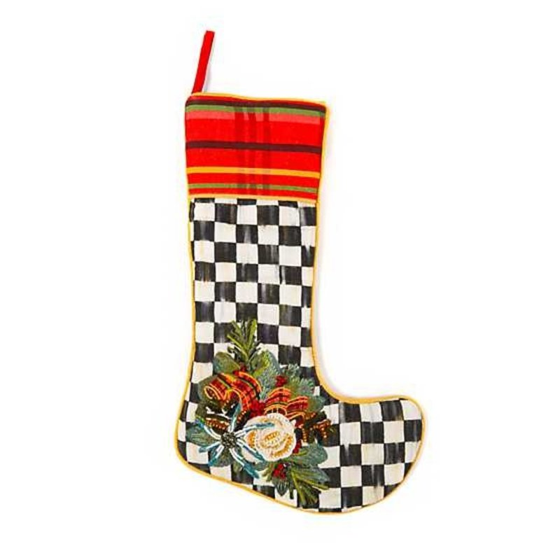 Mackenzie-Childs Scottish Bouquet Stocking