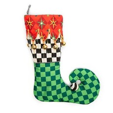 Mackenzie-Childs Jester Stocking - Green