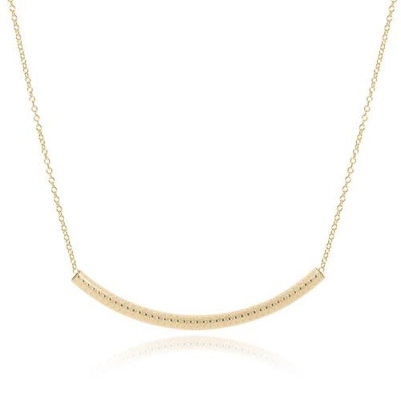 "enewton 16"" Necklace Gold - Bliss Bar Textured Gold"