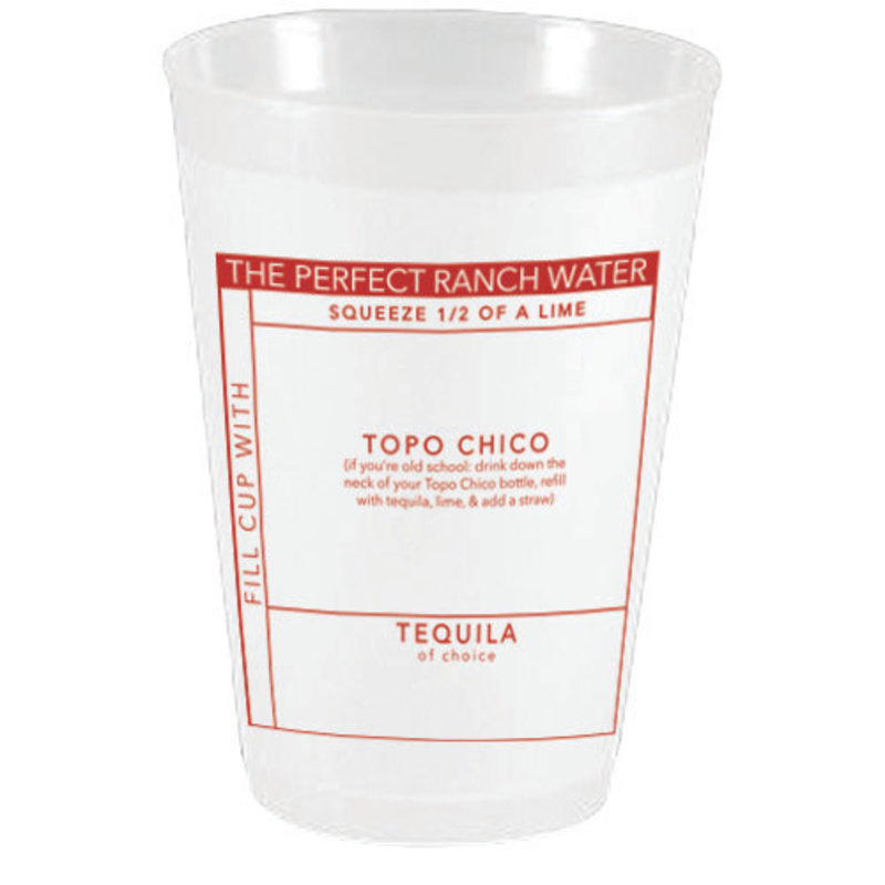 Sassy Cups Ranch Water Frost Flex Cups