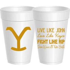 Sassy Cups Yellowstone Styrofoam Cups (sleeve of 10)