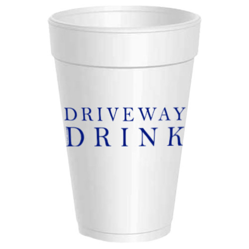 Sassy Cups Driveway Drink Styrofoam Cups (sleeve of 10)