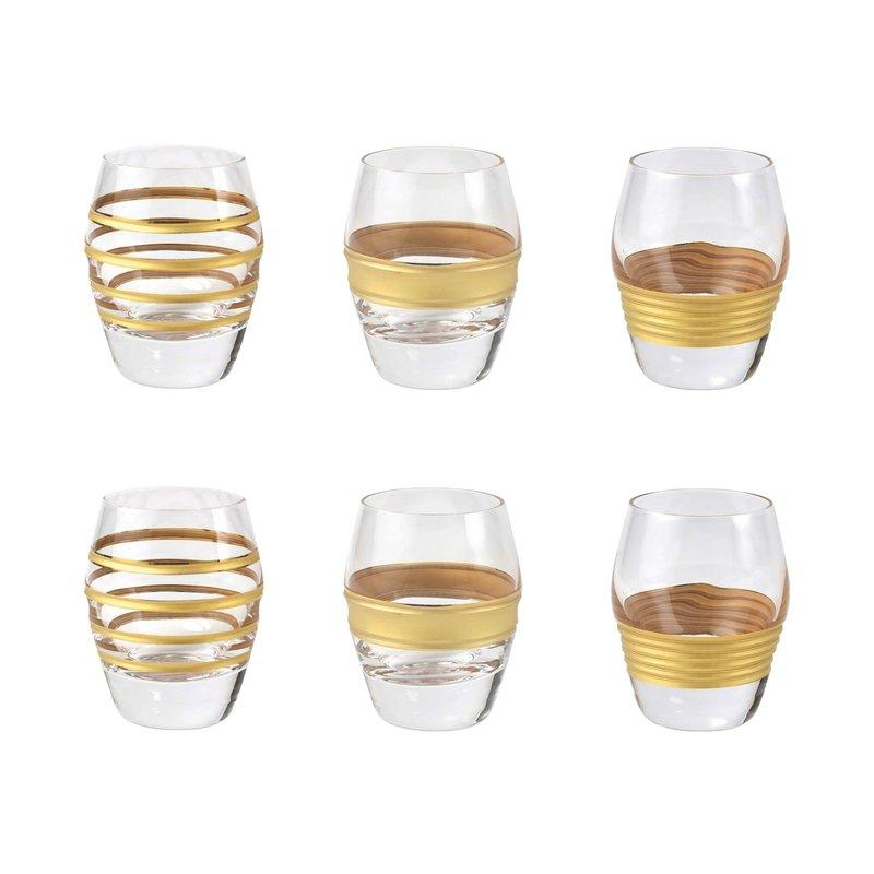 Vietri Raffaello Assorted Liquor Glasses, set of 6