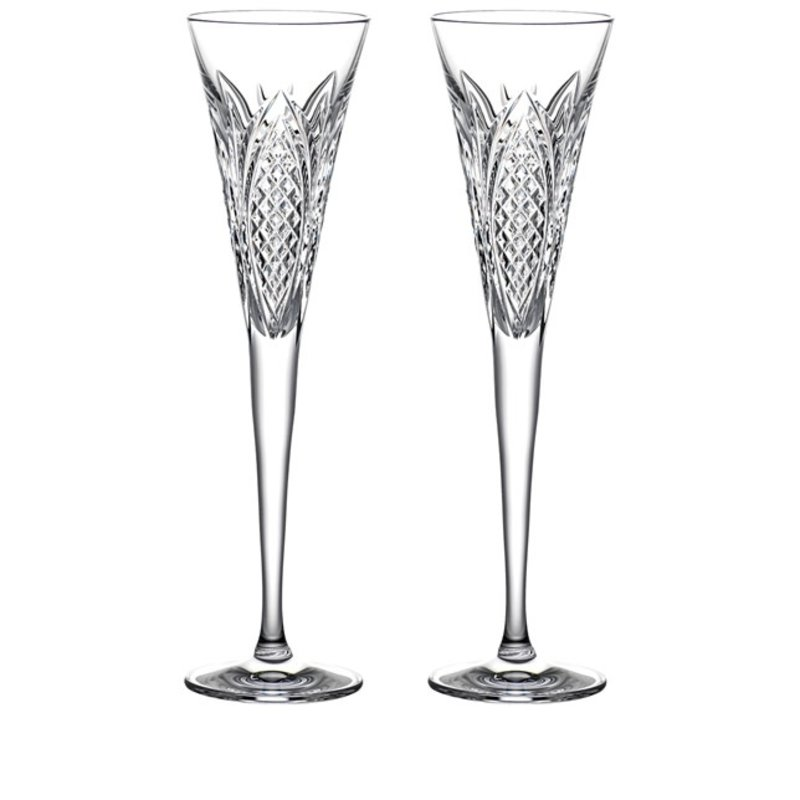 Waterford Times Square 2022 Wisdom Flutes,   pair