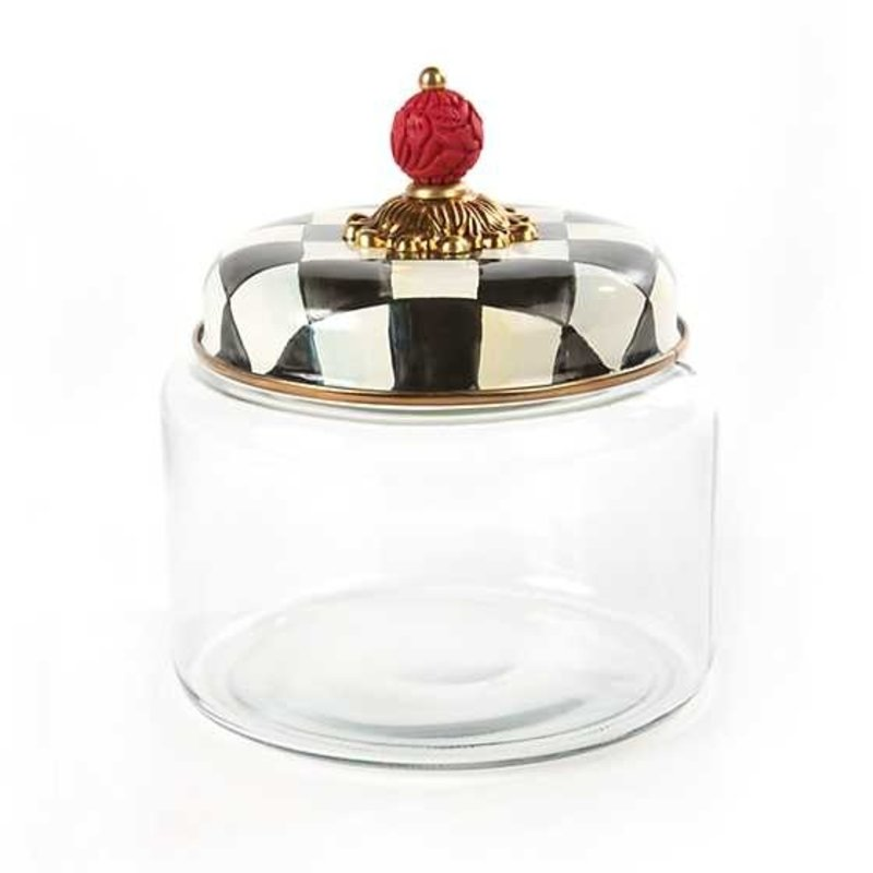 Mackenzie-Childs Courtly Check Kitchen Canister - Small