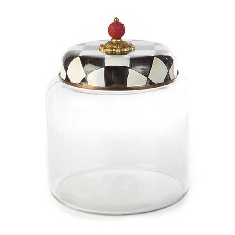 Mackenzie-Childs Courtly Check Storage Canister - Big