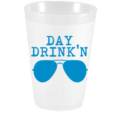 Sassy Cups Day Drinkin Frost Flex Cups