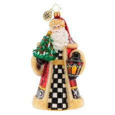 Radko Santa Lights the Way Ornament