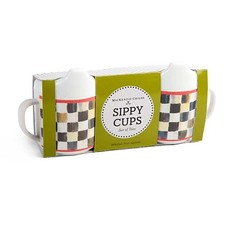 Mackenzie-Childs Courtly Check Sippy Cups Set of 2