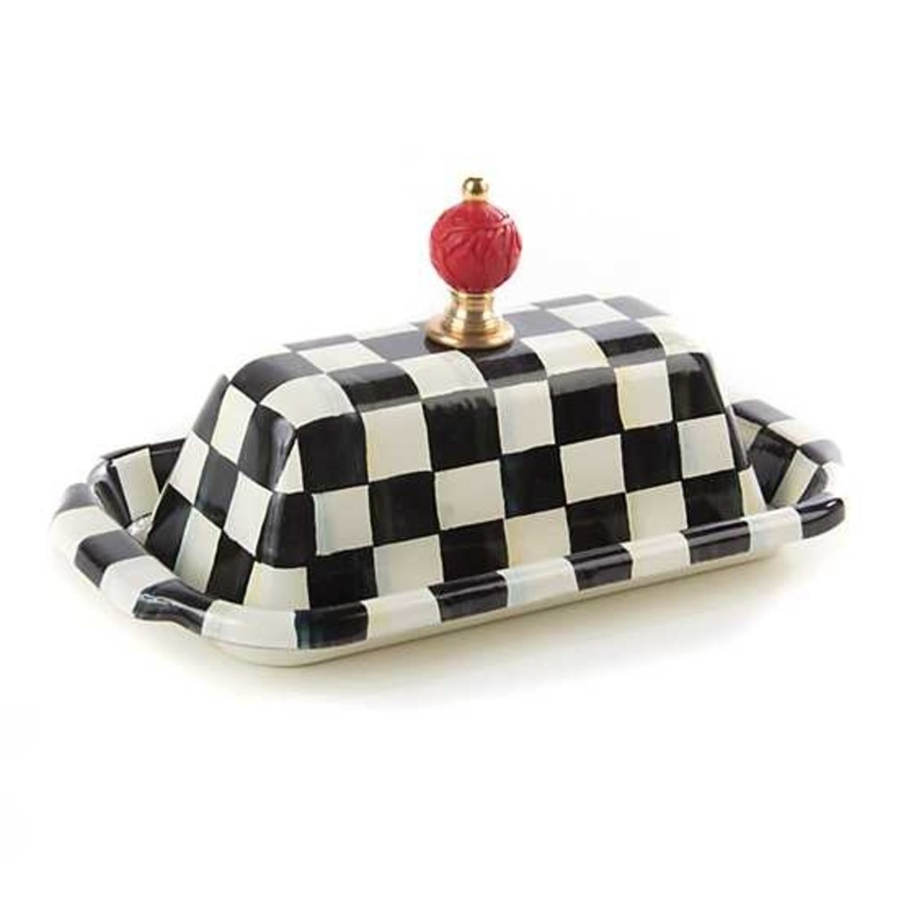 Mackenzie-Childs Courtly Check Enamel Butter Box