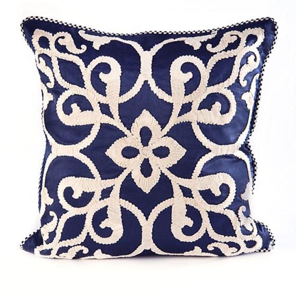 Mackenzie-Childs Byzantine Pillow - Navy