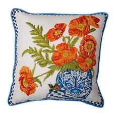 Mackenzie-Childs Ming Poppies Pillow