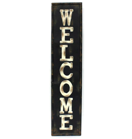 TCE Vertical Metal Welcome Sign