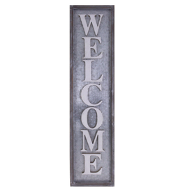TCE Metal Vertical Sign - Welcome