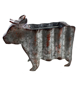 TCE Rustic Metal Cow Utensil Holder