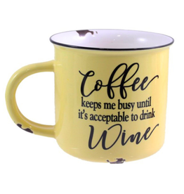 TCE Mug - Coffee...Drink Wine