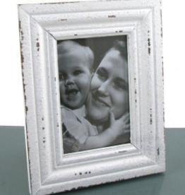 TCE 4x6 Distressed White Frame