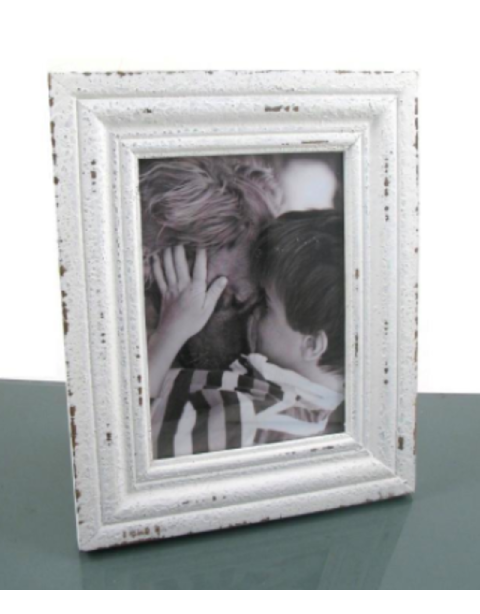 TCE 5x7 Distressed White Frame