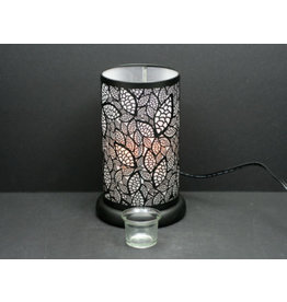 TCE Touch Lamp Black Leaves 9.5""