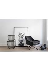 TCE Lira Smoke Swivel Chair