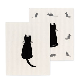 TCE Set Of 2 - Cat/Mice Dish Cloth