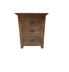 TCE Bernard Lake 3 Drawer Nightstand