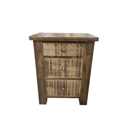 TCE Dakota 3 Drawer Nightstand