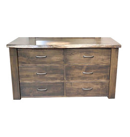 TCE Live Edge 6 Drawer Dresser